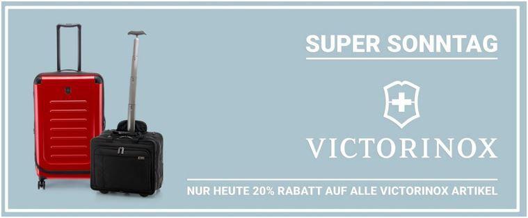 Koffer Direkt.de mit 20% auf Victorinox Koffer + 15% Neukunden Gutschein bis Mitternacht!