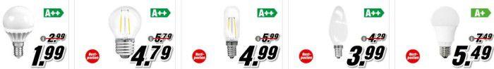 Preisreduzierung: Media Markt: LED Lampen im Restposten Sale