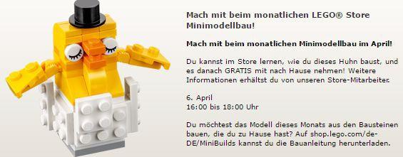 Gratis Lego Mini Bauaktion April – nur am 06.04. in teilnehmenden Lego Stores