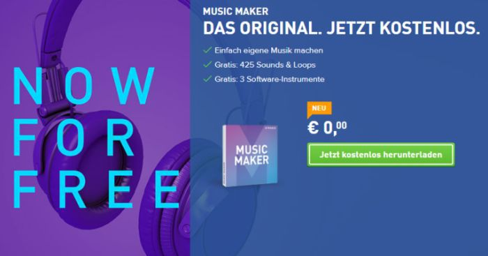 Magix Music Maker (Vollversion) kostenlos + 50€ In App Guthaben   nur für kurze Zeit