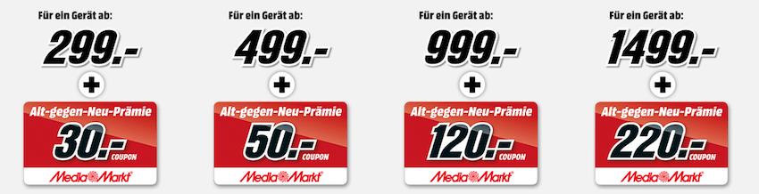 Media Markt Tauschrausch   Bis zu 220€ Gutschein auf Smartphones, TVs, Kühlschränke uvm.