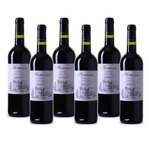 Promesse Merlot Pays d, Oc   6 Flaschen Rotwein Südfrankreich 2015 für 26,94€