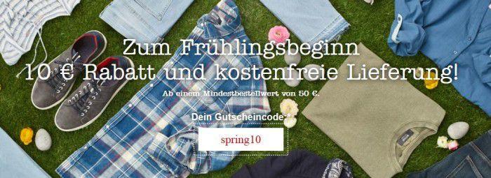 Mustang Online Shop: 10€ Rabatt ab 50€ Einkauf + VSK frei