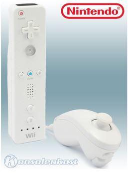 Nintendo Remote & Nunchuck: Wii in weiß für 14,99€