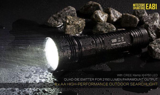 Nitecore EA81 LED Taschenlampe für nur 51,27€ (statt 111€)