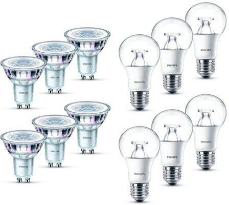 Philips LED Lampe GU10/E27 im 6er Pack für je 15,99€