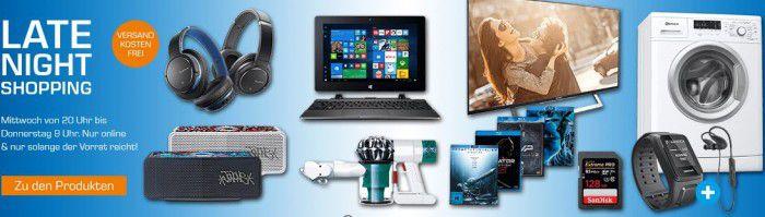 Saturn Late Night Shopping Übersicht   u.a.: PEAQ PSD 400BT Soundbase für 49,99€