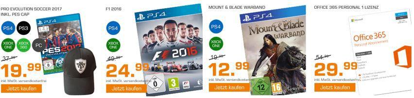 Saturn Weekend Sale: u.a. PES 2017 – Pro Evolution Soccer 2017 statt 33€ für 19,99€