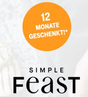 Nur für Telekom Kunden: 12 Monate Simple Feast (Android/iOS) kostenlos statt 69,99€