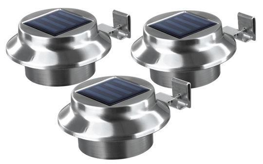 easymaxx Solar Edelstahl Dachrinnenleuchten im 3er Set für 22,99€
