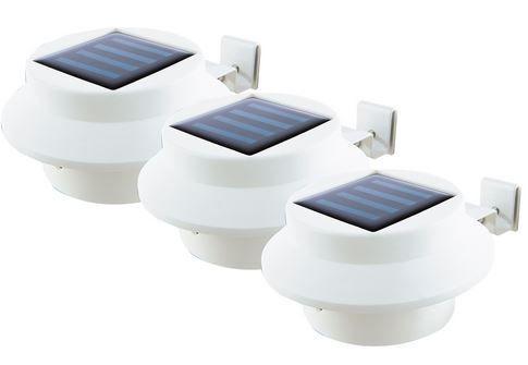 solarzauber Dachrinnen Leuchten 3er weiß für 13,59€