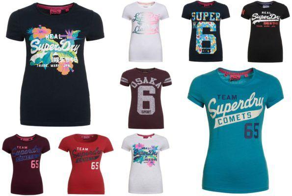 Superdry Damen Shirts verschiedene Modelle für je 11,95€ (statt 24€)
