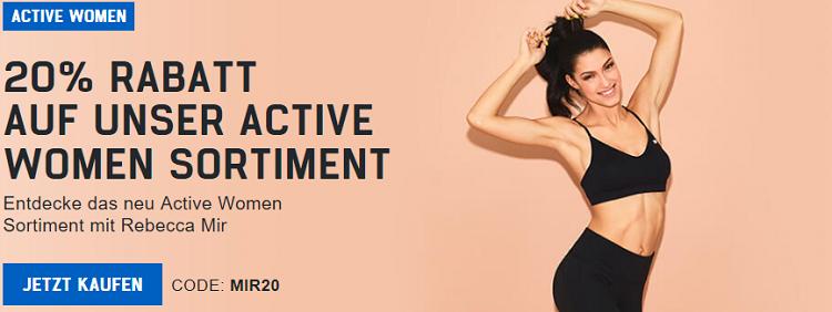 20% Rabatt auf Active Women Sortiment bzw. 40% Rabatt auf Pillen & Aminos + VSK frei ab 49€