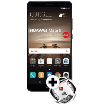 Huawei Mate 9 – 5,9 Smartphone mit LTE + Adidas Fussball für 539€ (statt 600€)