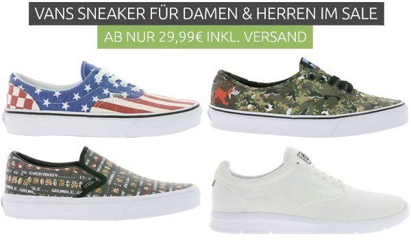 Vans Sneaker   für Damen und Herren im Outlet46 Sale ab 29,99€   augewählte Größen!