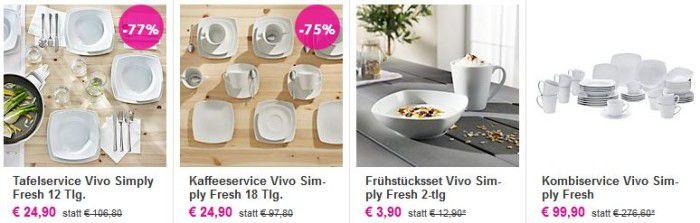 Vivo Simply Fresh by Villeroy & Boch   42 teilg. Kombiservice für nur 93,85€ und mehr Angebote