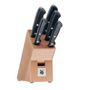 WMF CLASSIC LINE   Birkenholzblock + 4 Messer + Stahl für 59,95€