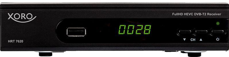 Xoro HRT 7620   DVB T/T2 HD Receiver für 39,95€