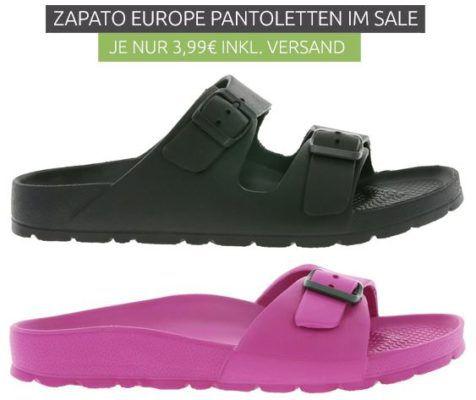 Zapato Casual Pantoletten für 3,99€ (statt 15€)