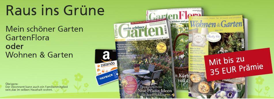 mein schöner Garten, GartenFlora und Wohnen & Garten Jahresabos
