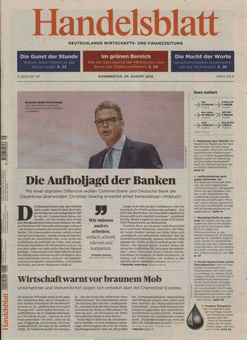 Handelsblatt im Jahresabo für 832€ + 300€ Scheckprämie