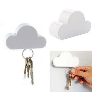 Magnetische Schlüsselwolke in weiß für 2,04€
