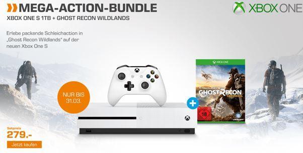 Xbox One S Konsole 1TB + Game Ghost Recon Wildlands für 279€