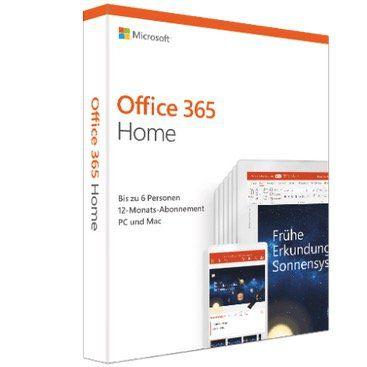 Microsoft Office 365 Home 🖥️ für 54€ (statt 72€)   1 Jahr für 6 Benutzer (Win, Mac oder Tablet)