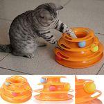 Spielzeugturm mit 3 Bällen für Katzen für 6,84€