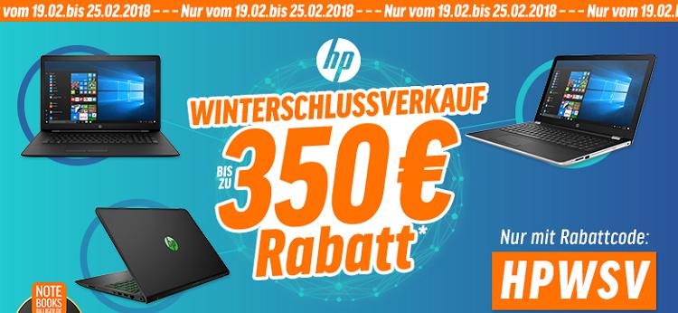 Bis zu 350€ Rabatt auf ausgewählte HP Notebooks  z.B. HP EliteBook 1030 G1 für 1.499€ (statt 1.699€)