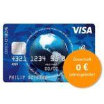 Visa World Card Kreditkarte ohne Gebühr (EU-weit) + Wunsch-PIN
