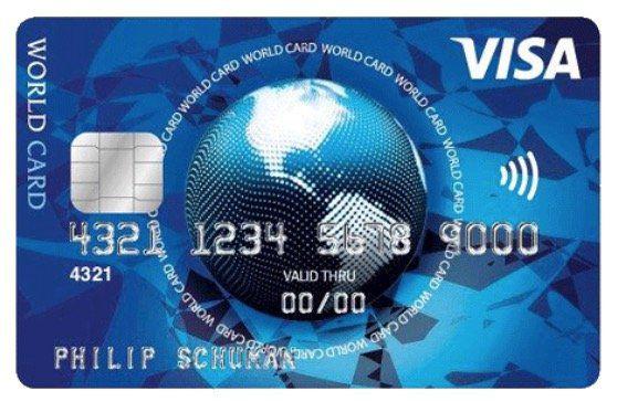 Visa World Card Kreditkarte dauerhaft ohne Gebühr (EU weit) + Wunsch PIN