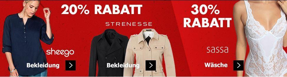 Karstadt Kracher mit z.B. 20% Rabatt auf Outdoorbekleidung, Sheego .. und mehr
