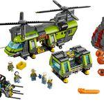LEGO City (60125) – Vulkan-Schwerlasthelikopter für 84,99€ (statt 110€)