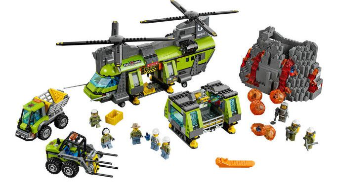 LEGO City (60125)   Vulkan Schwerlasthelikopter für 78,29€ (statt 110€)