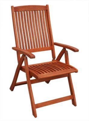 KMH Hochlehner   Gartenstuhl aus Eukalyptusholz für 44,91€