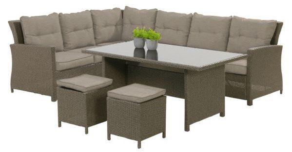 Bukatchi 4 tlg. Loungegruppe Miami aus Polyrattan für 629,96€ (statt 800€)