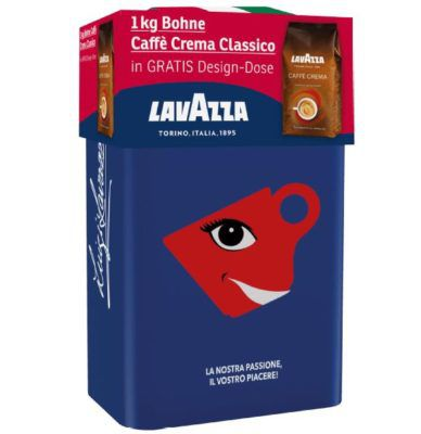 Lavazza Cafe Crema Classico + LE Design Dose für 10€