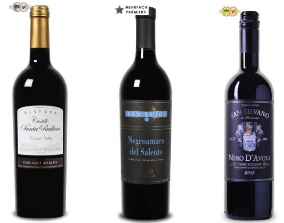 Premium Sonderausverkauf bei Weinvorteil   prämierte Weine ab 3,29€ pro Flasche