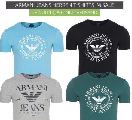 Armani Jeans Herren T Shirts statt 33€ für nur 19,99€