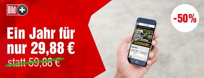 BILDplus Digital Jahresabo bei BILD für 29,88€ (statt 60€)
