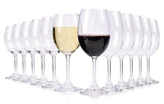 12 teiliges Rot  und Weißwein Gläser Set für 14,99€ (statt 25€)