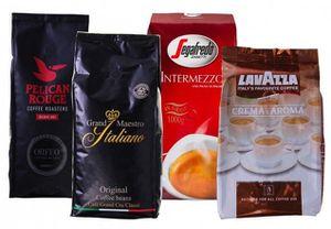 4kg Kaffeebohnen verschiedener Hersteller (Lavazza, Segafredo....) für 46,99€