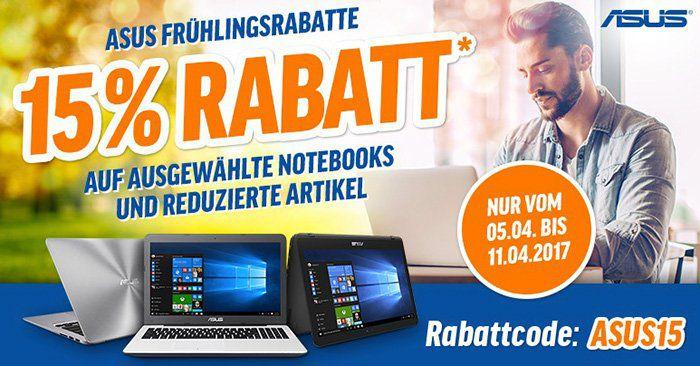 15% Rabatt auf Asus Notebooks   z.B. Asus F555LA XX2728D für 296,65€ (statt 338€)
