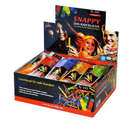 60er Pack X4 LIFE Snappy Knicklichter in versch. Farben für 14,99€ (statt 20€)