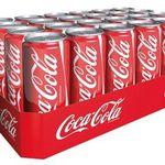24 Dosen je 330ml Coca-Cola für 8,54€
