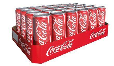 24 Dosen je 330ml Coca Cola für 8,89€