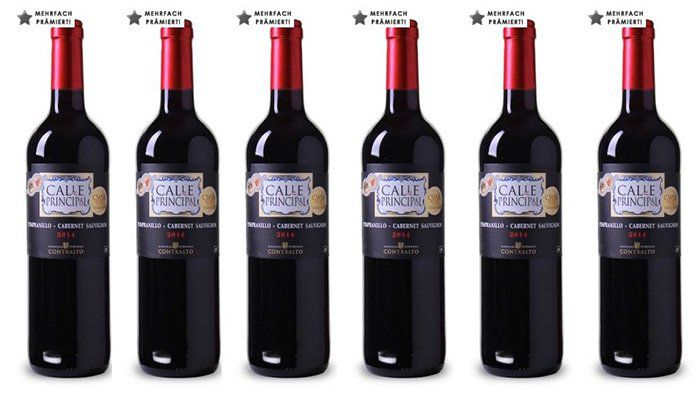 6 Flaschen Calle Principal der Bodegas Viñedos Contralto für 28,29€   mehrfach prämiert!