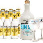 Gin Sul Set mit 2 Gläser + 6 Flaschen Indian Tonic für 39,90€ (statt 50€)