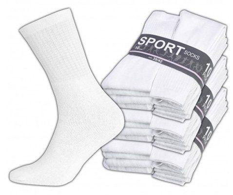 Herren Sportsocken   30er Pack weiße Sportsocken für 9,99€ (statt 20€)